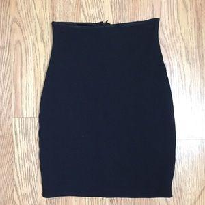 Black tight high waisted skirt